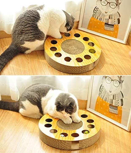 MIAOXSEN Cat Toy with Sturdy Scratching Pads and 2 Jingly Balls for All Ages of Cats 4