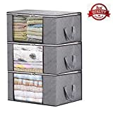 Storage Bag Organizers, Large Clear Window & Carry Handles, Great for Clothes, Blankets