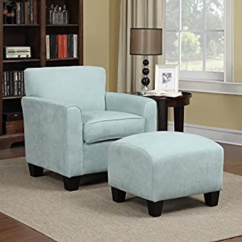 Awe Inspiring Amazon Com Park Avenue Sky Blue Hand Tied Accent Chair And Ibusinesslaw Wood Chair Design Ideas Ibusinesslaworg