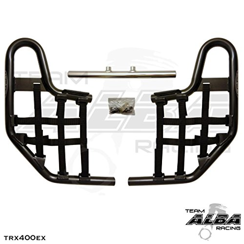TRX 400EX SPORTRAX (1999-2014) Standard Nerf Bars - Compatible with Honda - Black Bars - Compatible with Honda - w/Black Net (Honda Nerf Bars)