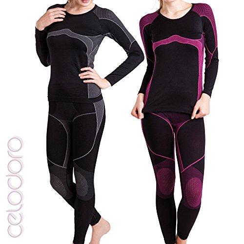 funzione nbsp; da celodoro Sport Set biancheria camicia donna seamless pantaloni dzW4wv