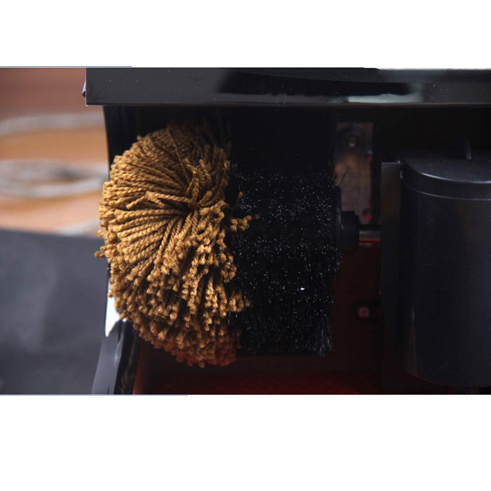 Feifei Shoe Polisher Fully Automatic Electric Sensor Shoe Polisher Shoe-Changing Bench 2 Rotating Cleaning Brush Cotton,45W Non-Slip by Shoe cover machine (Image #3)