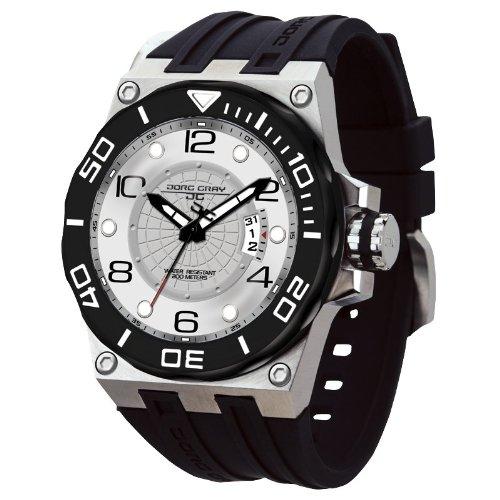 Jorg Gray JG9600-11 - Reloj analógico de cuarzo para hombre con correa de acero inoxidable, color plateado