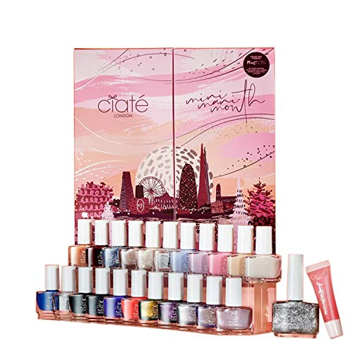 Ciate London Mini Mani Month 2020 Nail Polish Advent Calendar! Infused with Strengthening Biotin, Nourishing Bamboo and Hydrating Bakuchiol Extracts! Long-Lasting and Ultra-Glossy Nail Colors!