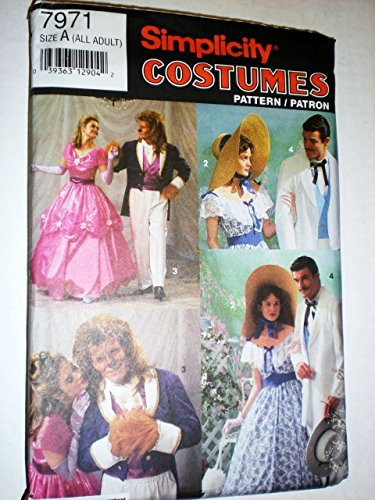 Simplicity Costume Patterns, Adult, Old South and Fairy Tale 7971]()