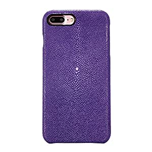 Luxury Real Genuine Stingray Skin Leather Back Case Cover For iPhone 7/8 Plus (Purple, For iPhone 7/8)