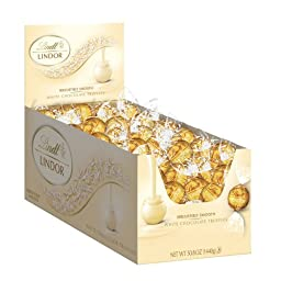 Lindt LINDOR White Chocolate Truffles ,120 Count