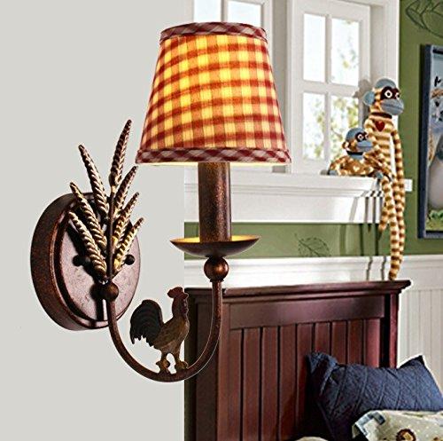 Lilamins Bedroom,Living Room,Studyroom Iron Children'S Room Wall Lightsthatsingle Red+Ledlight by Lilamins