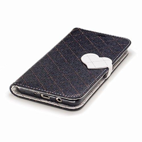 Yiizy Samsung Galaxy J5 (2016) / J510FN / J510F / J510G Custodia Cover, Amare Design Sottile Flip Portafoglio PU Pelle Cuoio Copertura Shell Case Slot Schede Cavalletto Stile Libro Bumper Protettivo B