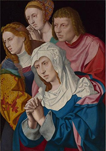 Perfect Effect Canvas ,the Cheap But High Quality Art Decorative Art Decorative Prints On Canvas Of Oil Painting 'Bartholomeus Bruyn The Elder - The Virgin, Saints And A Holy Woman,probably (Restoration Comedy Costumes)