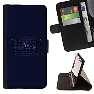 DEVIL CASE - FOR Sony Xperia Z1 L39 - Computer Game Retro Universe Labyrinth Maze - Style PU Leather Case Wallet Flip Stand Flap Closure Cover