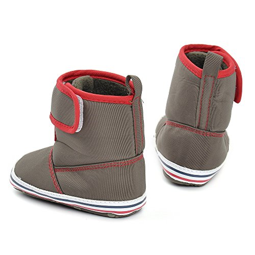 Estamico bebé high-top botas de invierno cálido marrón marrón Talla:12-18 meses marrón