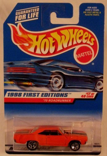 Roadrunner Car - Hot Wheels - 1998 First Editions '70 Roadrunner #17 of 40 Cars