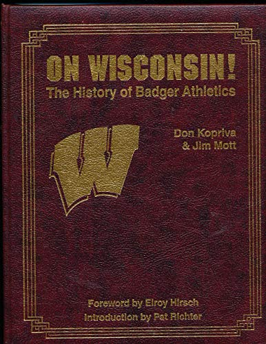 Oh Wisconsin The History of Badger Athletics leather bound signed bxfa2 -