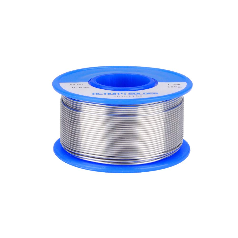 HUICAO Rosin Core Solder 63/37 Wire Solder for Electrical Repair Wiring Circuit Boards – 100 g (0.032 inch / 0.8mm)