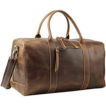 e65ee42078ef Leather Travel Duffel Bag - Airplane Underseat Carry On Bags By RusticTown   (Brown ) PNR Crafts ...