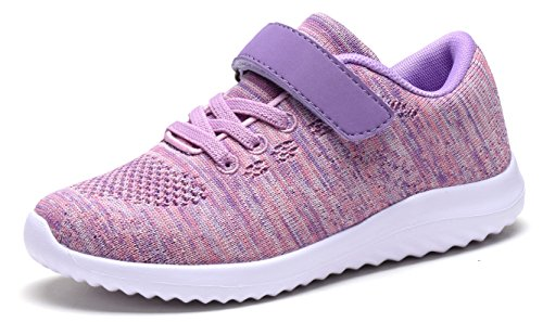 Toddler's Lightweight Sneakers Boys and Girls Cute Casual Running Athletic Shoes Multiple Colors(Toddler/Little Kids/Big Kids) (13 M US Little Kid, PINK)