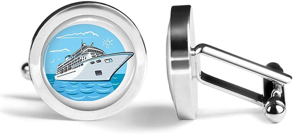 Oakmont Cufflinks Cruise Ship Cufflinks Nautical Cuff Links Angled Edition
