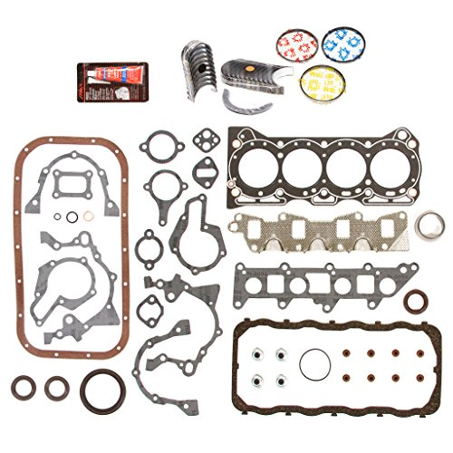 Evergreen Engine Rering Kit FSBRR8000EVE\0\0\0 Fits 86-95 Suzuki Samurai Sidekick Swift 1.3 SOHC G13A Full Gasket Set, Standard Size Main Rod Bearings, Standard Size Piston Rings (86 Camshaft Kit)