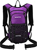 Insulated Hydration Backpack with 2L BPA FREE Bladder - Keeps Liquid Cool up to 5 Hours – Waterproof pack for Running, Hiking, Cycling, Camping (Purple - No Waist Pack)