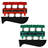DigiFlex Combo 2-Pack of Hand Exercisers - Light (Red - 3 lbs) and Medium (Green - 5 lbs) Resistance