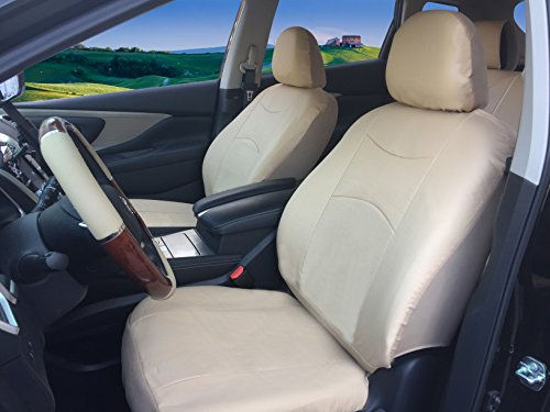 115903 Tan - Leather Like 2 Front Car Seat Covers for MKC MKZ MKX Navigator 2020 2019 2018 2018-2007