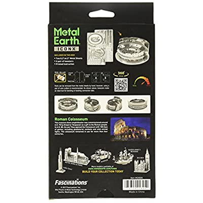 Fascinations ICONX Roman Colosseum 3D Metal Model Kit: Toys & Games