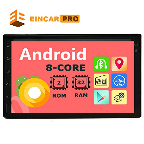 Double Din Car Stereo Android Head Unit 2 Din Car Radio Bluetooth GPS Navigation 7 inch Touch Screen Radio with in Dash Auto Audio Headunit 8 Core Car Tablet Receiver Support 2GB 32GB WiFi Video Out