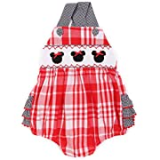 Babeeni Baby Girls Minnie Mouse Smocked Bubble with Strap and Ruffles (18M)