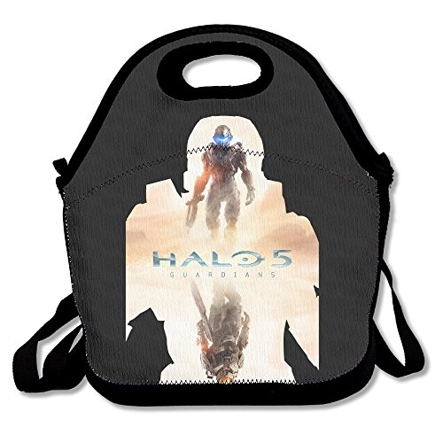 Curcy HALO MASTER CHIEF Awesome Lunch Tote Lunch Bag Outdoor Picnic Mid-sized (Halo Master Chief Collectors Edition)