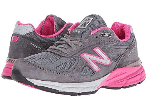 歯痛スタイル生きている(ニューバランス) New Balance レディースランニングシューズ?スニーカー?靴 W990v4 Grey Pink 11.5 (28.5cm) D - Wide
