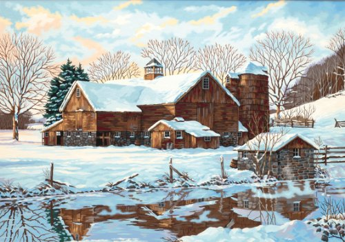 Dimensions Needlecrafts Paintworks Paint By Number, Winter Reflections