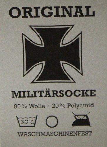 Tobeni 1 Paire de Chaussettes Militaires Travaillent Laine courte Couleur Gris Taille 44-45 4