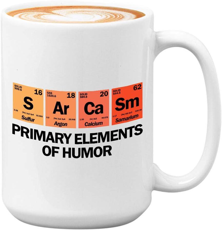 Funny Science Mug - S Ar Ca Sm - Witty Unique Sarcasm Joke Creative Laugh Sarcastic Primary Elements Of Humor Student Teacher Scientist Chemistry