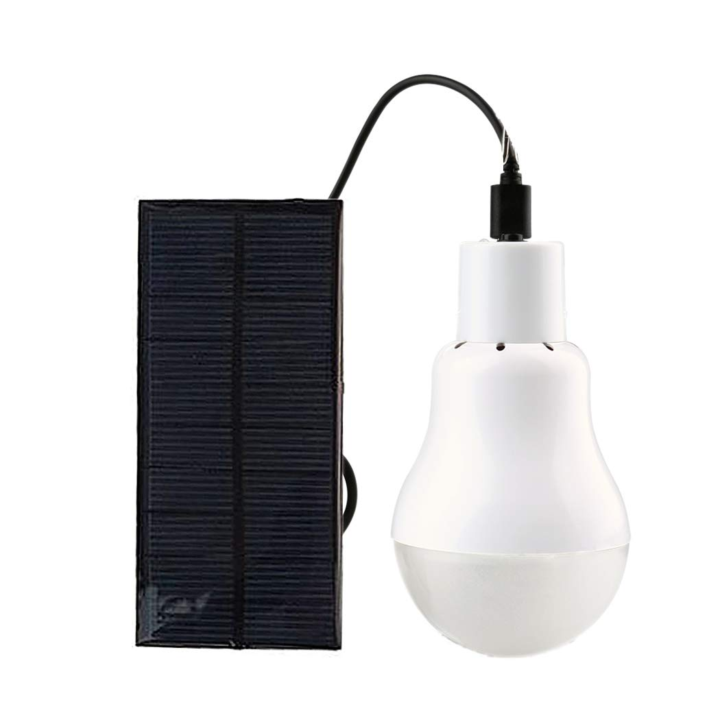 Jinguio Solar Light Bulb Portable 110LM Solar Powered Led Bulb Lights Outdoor Solar Energy Lamp Lighting for Home Fishing Camping Emergency Tent Shed Chicken Coop