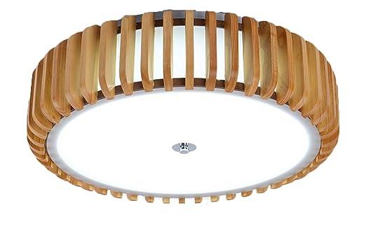 LVYI Deckenlampe Wohnzimmerlampe Schlafzimmerlampe Deckenleuchte Deckenleuchten Dimmbare Led Leuchte Mit Fernbedienung Esstischlampe Holz Rustikal