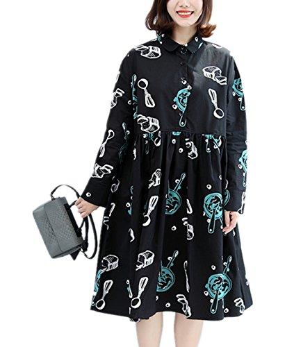 6c76d4767 YESNO Y99 Women Girl Casual Loose Swing Dress Gathered Waist Short Sleeve