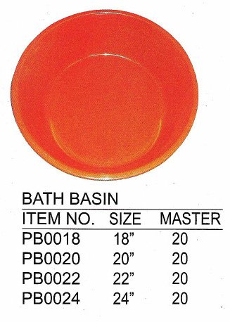 BATH BASIN 20'', Case Pack of 20