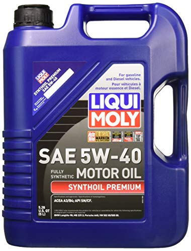 Liqui Moly 2041 Premium 5W-40 Synthetic Motor Oil - 5 Liter -