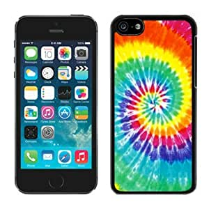 LJF phone case Tie Dye ipod touch 5 Case Black Cover