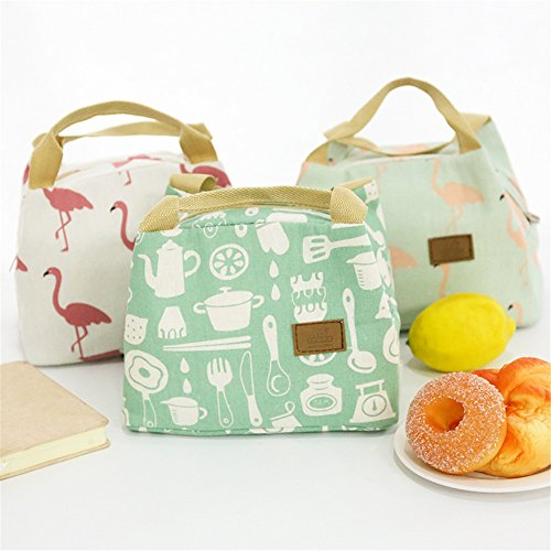 Tofree Bag Canvas Portable Bag Women Lunch Fresh Lunch White Bag Khaki Insulation Keeping Box Handbag qHw7rq5xpn