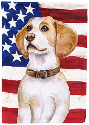 Beagle Garden Flag - Caroline's Treasures BB9686GF Beagle Patriotic Decorative Outdoor Flag, Garden Size, Multicolor