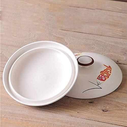ASDAF Pot de Soupe en céramique Pot de Cuisine cuisinière à gaz en céramique Hot Pot chaudrons et casseroles Batterie de Cuisine cuisinière marmite,1000ML