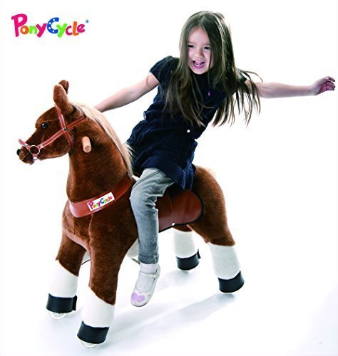 Smart Gear Pony Cycle Chocolate, Light Brown, or Brown Horse Riding Toy: 2 Sizes:  World's First Simulated Riding Toy for Kids Age 4-9 Years Ponycycle Ride-on Medium