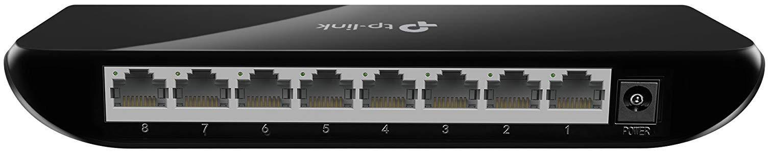 TP-Link 8 Port Gigabit Ethernet Network Switch | Ethernet Splitter | Plug-and-Play | Traffic Optimization | Unmanaged (TL-SG1008D) by TP-Link