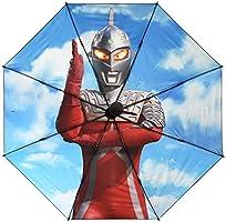 [リラックス] RELAX ULTRAMAN ウルトラマン 折りたたみ傘 ブラック メンズ レディース 8本骨 収納袋付き