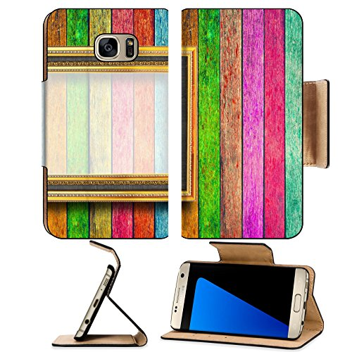 Galaxy S7 Edge Flip Pu Leather Wallet Case IMAGE ID: 27926870 photo on Colorful wood texture (Jack Wood Gallery)