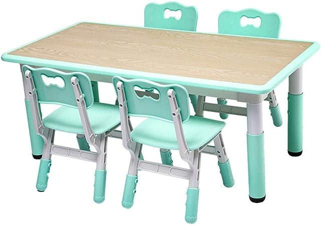 Goplus Set Mobidi per Bambini, Tavolino con 4 Sedie, Set