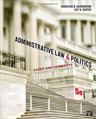 Administrative Law and Politics: Cases and Comments by Christine B. Harrington (2014-10-22)