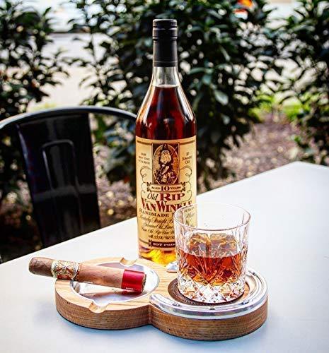 Red Oak Kentucky Double Cigar Ashtray Coaster - Double Cigar